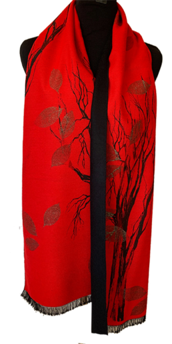 205 cashmere red tree